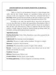 Surgical Nurse Job Description 07 Job Description Of Nursing Personnel In Hospital Nursing