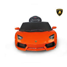 barbie lamborghini best ride on cars lamborghini aventador 6v orange best ride on