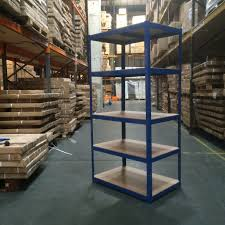 180 x 90 x 60cm 5 tier boltless shelving unit in blue racking