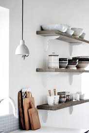 cabinets u0026 storages rustic wooden open kitchen shelving for white