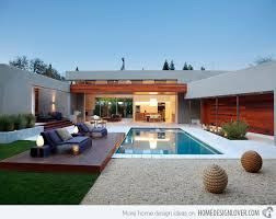 house with pool modern house swimming pool waterfaucets