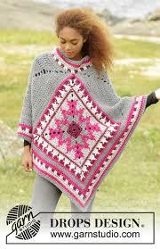 drops design poncho desert drops 172 38 free crochet patterns by drops design