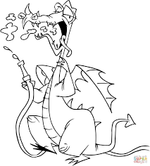 dragon with water hose coloring page free printable coloring pages