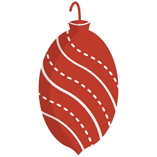 red christmas ornament clipart u2013 happy holidays