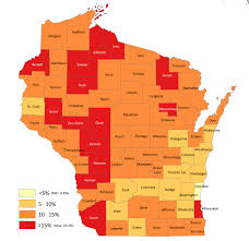 County Map Wisconsin by Hunger And Poverty In Wisconsin County By County U2013 Ecals