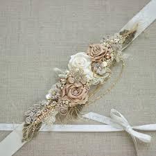 Flower Belts - bridal belt sash rose gold belt sash rustic sashes belts for