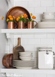 kitchen decorating ideas with accents eclectically fall home tour kitchens country farmhouse