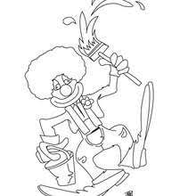 juggling clown coloring pages hellokids com