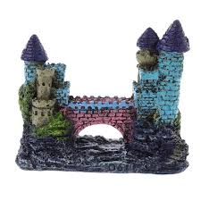 resin european tower castle aquarium ornament fish tank decoration