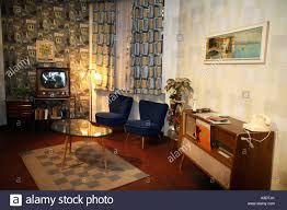 German Living Room Furniture Reproduction Of A Typical West German Living Room From The Fifties