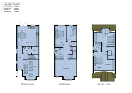 4 bed floor plans site plan