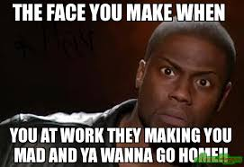 Mad Meme Face - the face you make when you at work they making you mad and ya wanna
