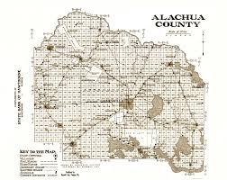 Florida Railroad Map by Old County Map Alachua Florida Kay 1936