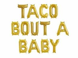 gold letter balloons taco bout a baby balloons 16 gold letter balloons baby