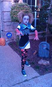 Childrens Scary Halloween Costumes Kids Zombie Cheerleader Costume Child Halloween Costumes