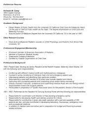 Resume Model For Job by 15 Pediatrician Resume Sample Operations Management
