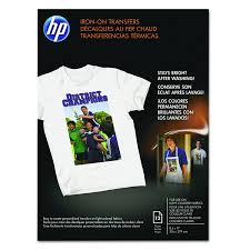 hp c6049a iron on transfers 8 1 2 x 11 white pack