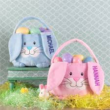 bunny baskets embroidered personalized easter baskets giftsforyounow