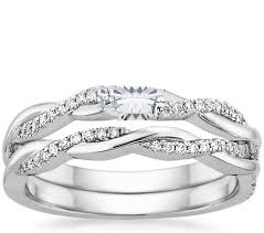 white gold bridal sets brilliant earth wedding ring sets 18k white gold twisted