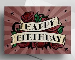 tattoo birthday card etsy