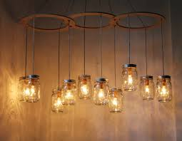 Kitchen Lamp Ideas Rustic Kitchen Lighting Ideas With Diy Hanging Mason Jar Candle