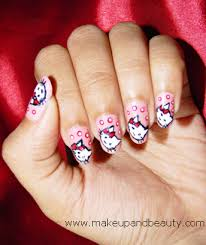 hello kitty nail art tutorial