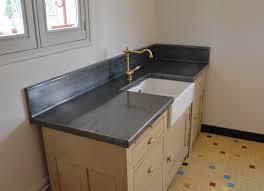 plaque de zinc pour cuisine feuille de zinc pour plan de travail avec meuble plan de travail