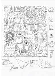 halloween coloring pages with hidden pictures u2013 halloween wizard