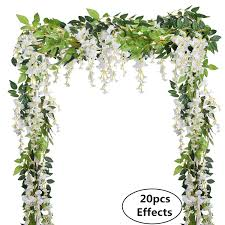 wisteria home decor 4pcs 6 6ft piece artificial flowers silk wisteria garland