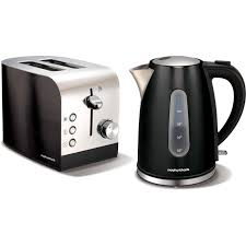 Morphy Richards Kettle And Toaster Set Morphy Richards Accents Black 1 5l Jug Kettle And 2 Slice Toaster