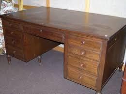 Flat Top Desk Shelbyville Desk Co Walnut Flat Top Desk Sale Number 2254 Lot