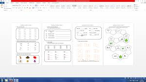 snr infants 1st class spelling worksheets based on jolly phonics