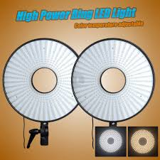 circle light for video falconeyes 300 led video ring light w diffuser dimmable 3000k 7000k
