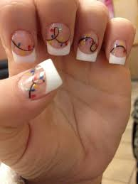 christmas lights nail design acrylic nails nail designs i u0027d