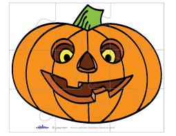 Printable Halloween Pumpkins by Printable Pumpkin 1 Large Piece Puzzle
