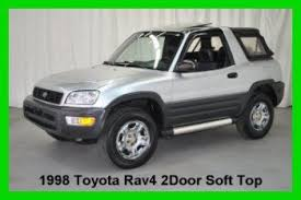 toyota rav4 convertible for sale purchase used 1998 toyota rav4 2 door top 4wd 5 speed manual