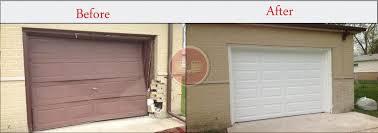 garage doors ct before and aftergarage door installation aladdin