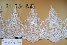 31 5cm wide tulle border lace trimming brides wedding lace fabric