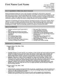 Heavy Duty Mechanic Resume Examples Resume Objective Examples Heavy Equipment Operator Resume