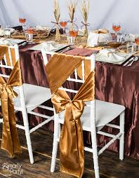 chair sash ideas 3 ideas for your thanksgiving table smarty had a party