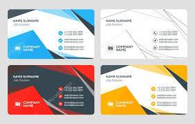 Flat Design Business Card Creative Business Card Template Flat Design Vector Illustration