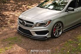 lowered amg mercedes benz cla 45 amg with some styling grunt