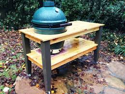 Green Egg Table by Diy Big Green Egg Table Myoutdoorplans Free Woodworking Plans