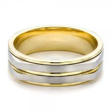 two tone mens wedding bands men s two tone wedding band 100153