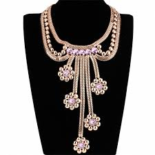 chunky gold necklace fashion images Fashion design gothic gold chain pink acrylic flowers big chunky jpg