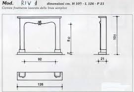 camino misure cornice per caminetto mod riv 1 in marmo bianco perlino annunci