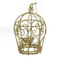5 5 glittery gold birdcage ornament walmart