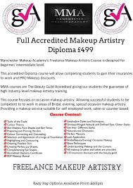 makeup artistry certification courses manchester makeup academy