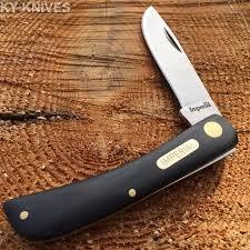 imperial schrade vintage black handles 3 1 2