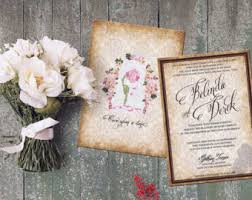 Beauty And The Beast Wedding Invitations Disney Wedding Invitations Disney Boarding Pass Wedding